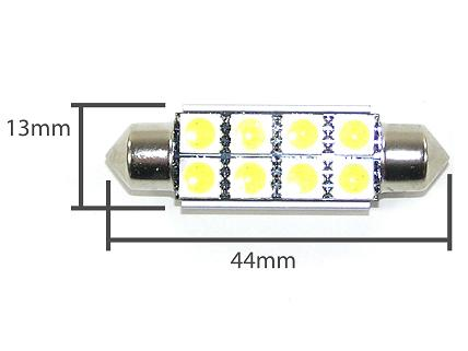 Pinolpære LED 44mm Xenon Hvid SMD (CANBUS)