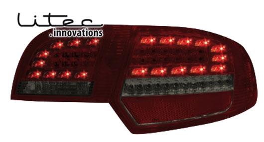 Audi A3 8P Baglygter LED Litec Rød Mørk Sportback