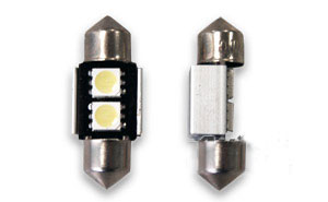 Pinolpære LED 31mm Xenon-Hvid SMD (CANBUS) 2 stk.