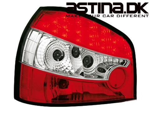 Audi A3 8L Baglygter Sonar LED Rød