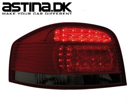 Audi A3 8P Baglygter LED New Design Rød / Mørk