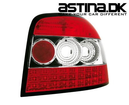 Audi A3 8P Baglygter LED Rød