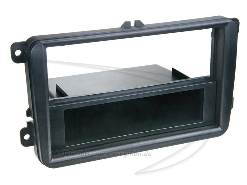 vag radioramme 1din kit seat skoda vw sort. Black Bedroom Furniture Sets. Home Design Ideas