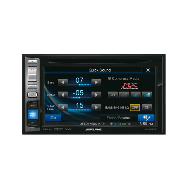 alpine ive w585bt 2din autoradio bluetooth. Black Bedroom Furniture Sets. Home Design Ideas