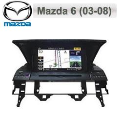 Mazda 6 Autoradio med Navi, DVD, USB 6,5