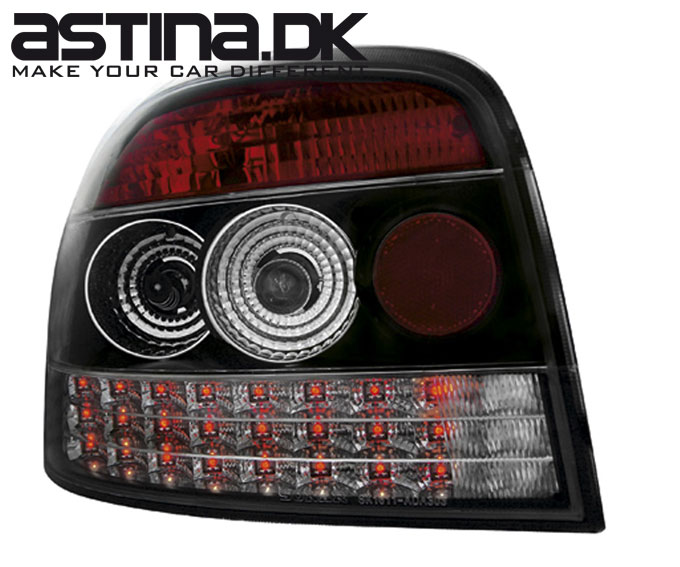 Audi A3 8P Baglygter LED Sort