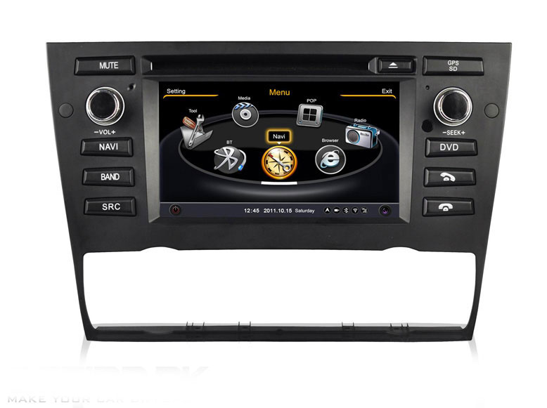 autoradio med navi dvd usb 6 2 til bmw e90 gen3 digital. Black Bedroom Furniture Sets. Home Design Ideas