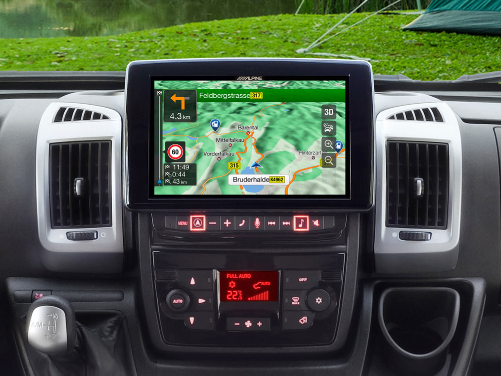 fiat ducato alpine style  xd navi android carplay