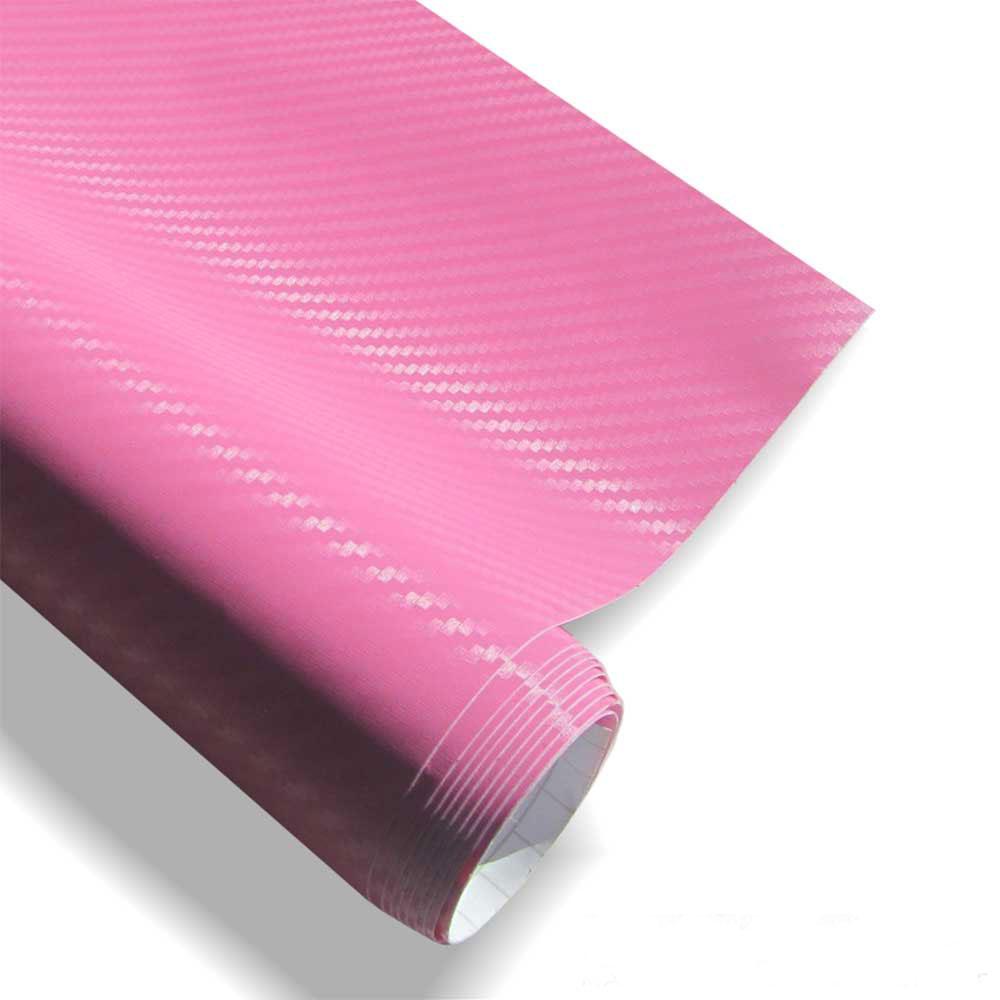 carbon folie 152x200cm pink med luftkanaler 3d struktur. Black Bedroom Furniture Sets. Home Design Ideas