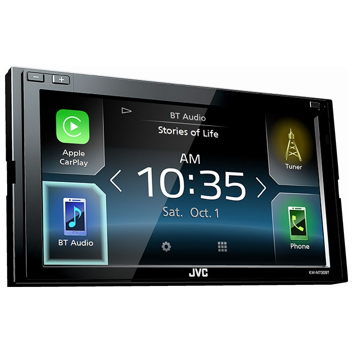 jvc kw m730bt apple carplay andriod auto bt usb 6 2. Black Bedroom Furniture Sets. Home Design Ideas