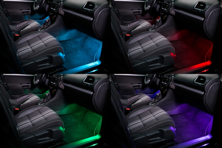 osram led ambient connect rgb bluetooth hovedkit make your car different. Black Bedroom Furniture Sets. Home Design Ideas