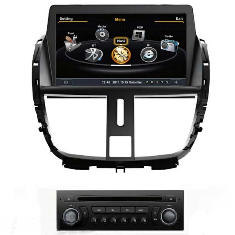 peugeot 207 autoradio med navi dvd bt usb 7 sk rm gen4 make your car different. Black Bedroom Furniture Sets. Home Design Ideas