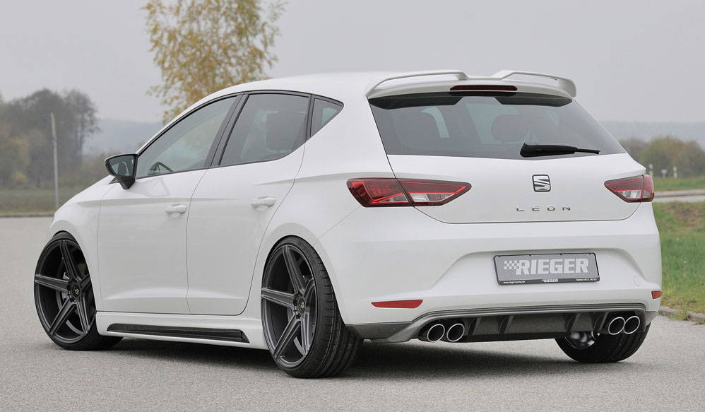 seat leon 5f rieger sidesk rter skakt 3 d rs carbon look. Black Bedroom Furniture Sets. Home Design Ideas