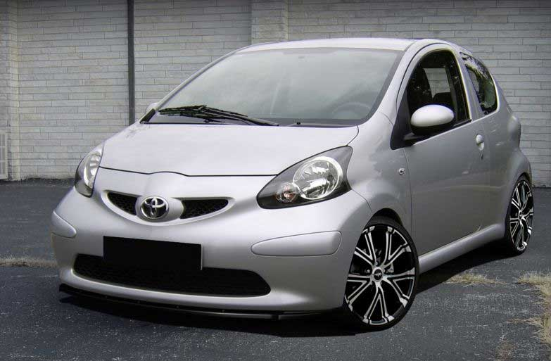 toyota aygo abs styling frontspoiler r line. Black Bedroom Furniture Sets. Home Design Ideas