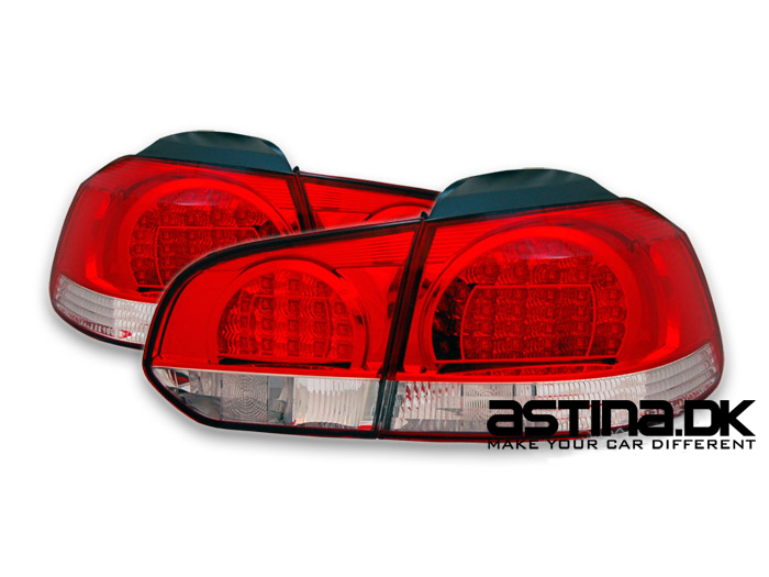 VW Golf 6 Baglygter LED OE Rød