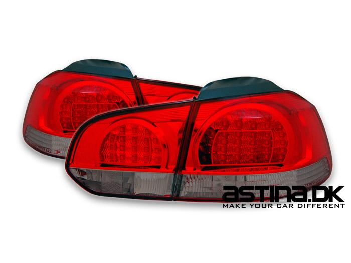 VW Golf 6 Baglygter LED OE Rød/Mørk