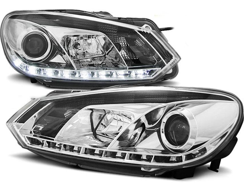 VW Golf 6 Forlygter LED Kørelys Sonar Krom