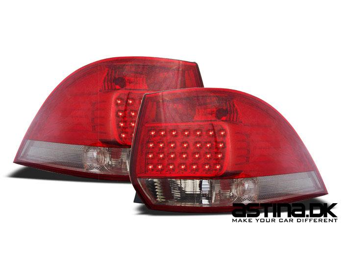 VW Golf 5 & 6 Baglygter LED Variant Rød