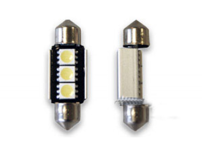 Pinolpære LED 36mm Xenon-Hvid SMD (CANBUS) 2 stk.