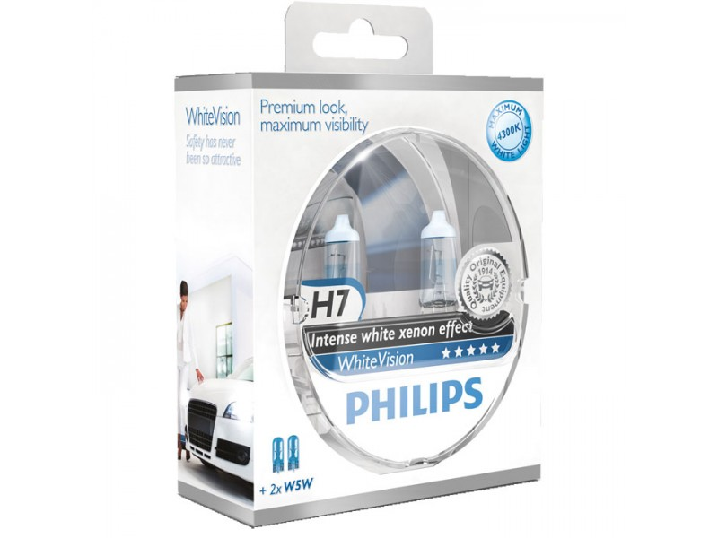 philips whitevision xenon effect h7 make your car different. Black Bedroom Furniture Sets. Home Design Ideas