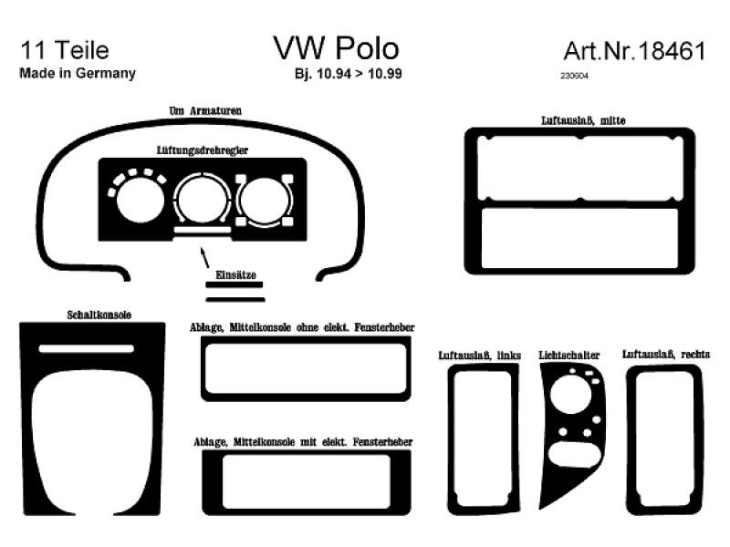 VW Polo 6N 94-99 Interiørdekor, Astina.dk