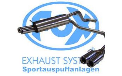 Audi A3 Sports Udstødning FOX Rustfri Duplex 2x76mm