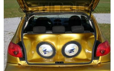 Peugeot 206 ASTN Bagagerums System - 2x12""