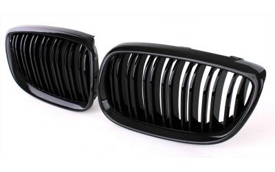 BMW 3-Serie E92 E93 Frontgrill Nyrer Carbon / Blank Sort 06-09