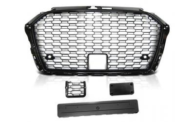 Audi A3 8V Frontgrill RS-Look Honeycomb Blank Sort 17- PDC