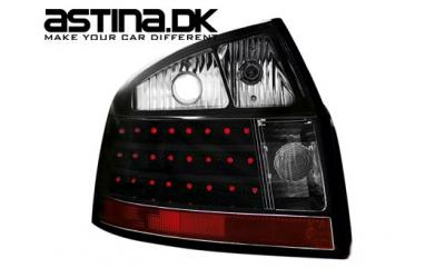 Audi A4 8E Baglygter LED NS Sort