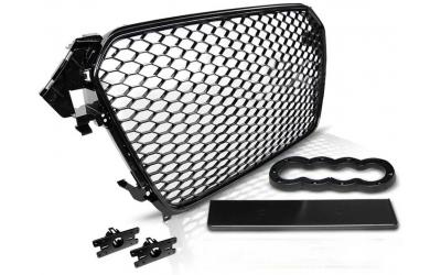 Audi A4 B8 Frontgrill RS-Look Honeycomb Blank Sort 11-15