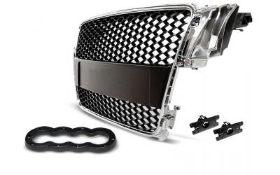Audi A5 Frontgrill RS-Look Honeycomb Krom 07-11