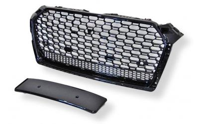 Audi A5 5F Frontgrill RS-Look Honeycomb Blanksort 16-19