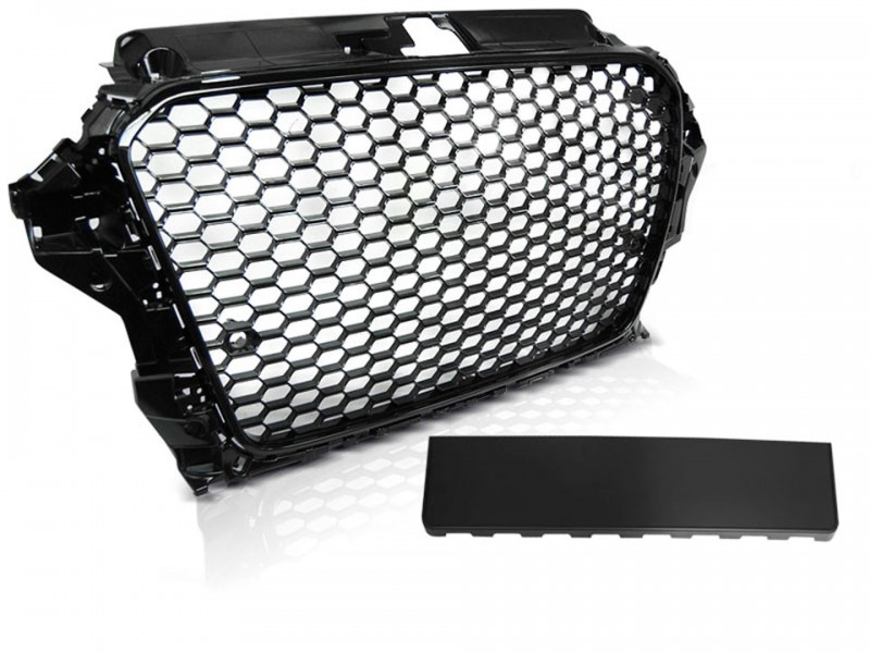 Audi A3 8V Frontgrill RS-Look Honeycomb Blank Sort 12-16