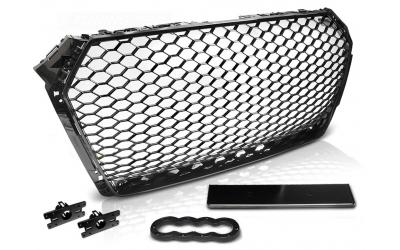 Audi A4 B9 Frontgrill RS-Look Honeycomb Blank Sort 15-