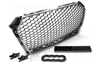 Audi A4 B9 Frontgrill RS-Look Honeycomb Krom 15-