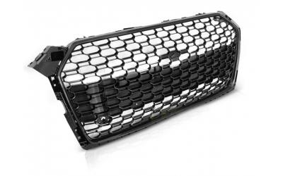 Audi A5 5F Frontgrill RS-Look Honeycomb Blanksort 19-