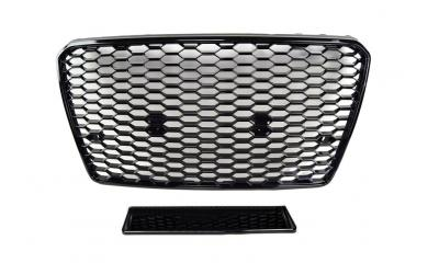Audi A7 Frontgrill RS-Look Honeycomb Blank Sort 11-15