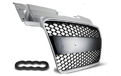 Audi TT 8J Frontgrill RS Design ABS Sort / Sølv 06-14
