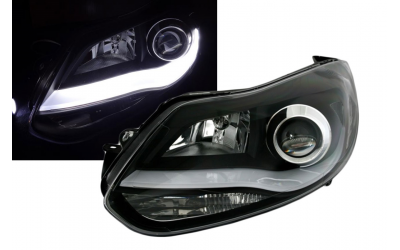 Ford Focus 3 Forlygter LED Light Tube Eagle Sort 11-14
