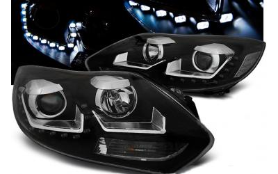 Ford Focus 3 Forlygter LED Design Eagle Sort 11-14