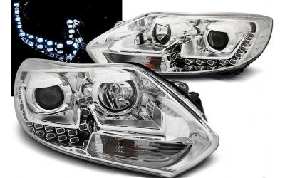 Ford Focus 3 Forlygter LED Design Eagle Krom 11-14
