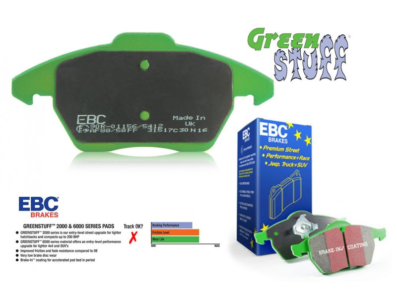 EBC Green Stuff Bremseklodser - Bag