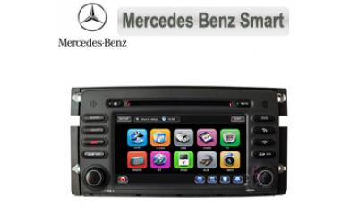 Mercedes Smart Autoradio med Navi, DVD, USB, BT, 7""