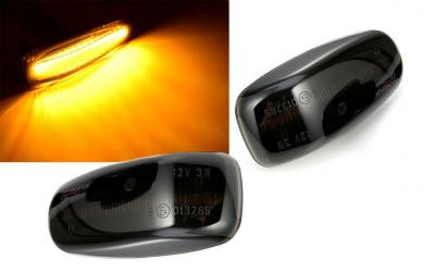 Mercedes Type 1 Sideblink Orion LED Sort W202 W210 W208 R171