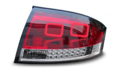Audi TT 8N Baglygter LED Light Tube Rød / Klar